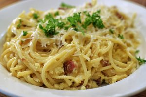 Pasta carbonara. Vir: Flickr