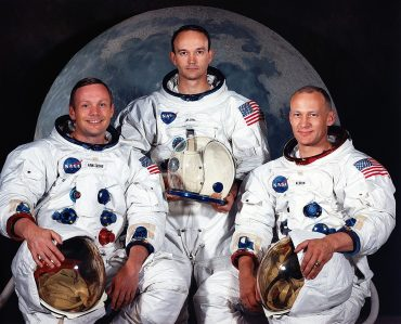 Ekipa astronavtov Apolla 11: Neil Armstrong, Michael Collins in Buzz Aldrin. Vir: Nasa